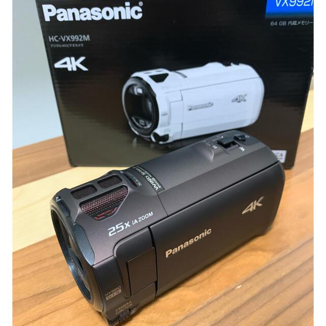 Panasonic(パナソニック)の美品 HC-VX992M-T カカオブラウン ケース付き Panasonic スマホ/家電/カメラのカメラ(ビデオカメラ)の商品写真