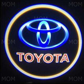 最新 車用 カーテシ カーテシー ドア ランプ ライト 2個 LED トヨタ 青