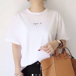 agnes b. - agnes b. アニエスベー Tシャツ チビロゴ ちびロゴ 半袖 新品 白