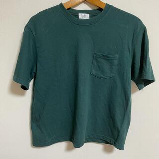 UNIQLO - 無地 Tシャツ グリーン 緑 カジュアル 韓国コーデ 台湾 ユニクロ GU