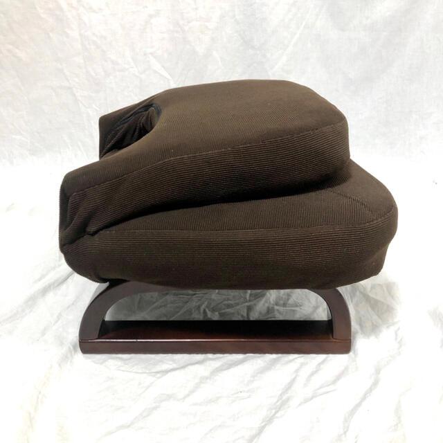 山善(ヤマゼン)の《背もたれ付きあぐら座椅子》ダークブラウン 山善(YAMAZEN) インテリア/住まい/日用品の椅子/チェア(座椅子)の商品写真