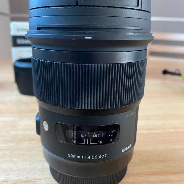 SIGMA(シグマ)のシグマ SIGMA 50mm F1.4 DG HSM Art   EFマウント スマホ/家電/カメラのカメラ(レンズ(単焦点))の商品写真