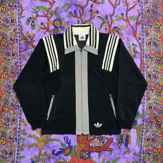 adidas - 80s adidas big collar track jacket