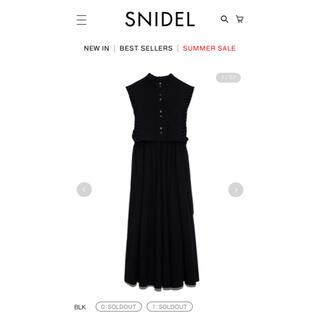 snidel - SNIDEL ベストレイヤードワンピース BLK 1