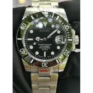 SEIKO - SEIKO ブラック カスタム セイコー  腕時計 サブマリーナ MOD 自動巻