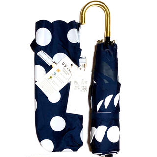 【a.s.s.a】晴雨兼用超軽量コンパクト折傘50cmドットネイビー新品未使用品