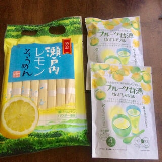 カルディ(KALDI)の【先着1名様限定】柑橘で爽やか☆レモンそうめん&フルーツ甘酒セット(インスタント食品)