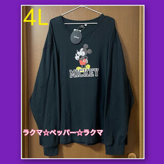 Disney - ミッキー ロンt 4L 長袖 tシャツ メンズ