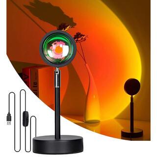 夕焼けライト  サンセットライト USB給電フロアランプ プロジェクターライト