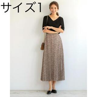 STYLE DELI - LUXE スタイルデリ 花びらプリントロングプリーツスカート サイズ01