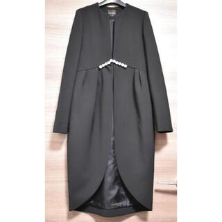 バーニーズニューヨーク(BARNEYS NEW YORK)のYOKO CHAN ヨーコチャン Petal Pearl Coat パールコート(ロングコート)