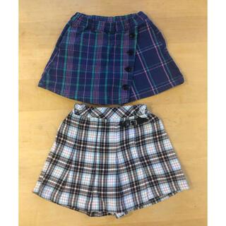 BREEZE - 120cm チェック柄 スカート風パンツ