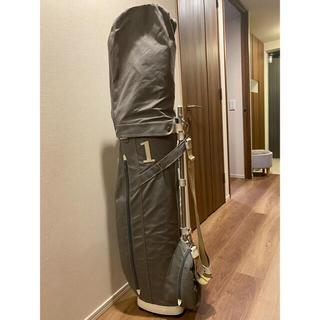 キノショウハンプ(木の庄帆布)の木の庄帆布 キャディバッグ セメントグレー 美品(バッグ)