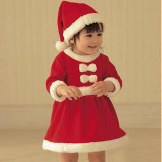 子ども サンタ コスプレ サンタコス ベビー 可愛い クリスマス パーティ ミニ(衣装一式)