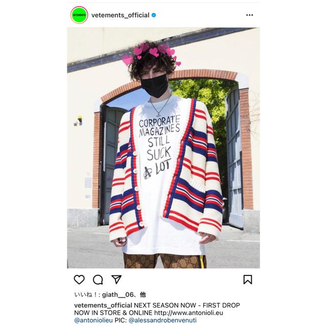 VETEMENTS カートコバーン Tシャツ S 正規品 ヴェトモン 希少 メンズのトップス(Tシャツ/カットソー(半袖/袖なし))の商品写真