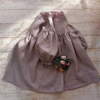 Caramel baby&child  - ハンドメイド1点もの[110]たちフリル衿のギャザー袖ワンピースチェリードロップ