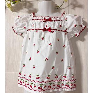 Shirley Temple - 【シャーリーテンプル】沢山のさくらんぼ刺繍が可愛いチュニック♡