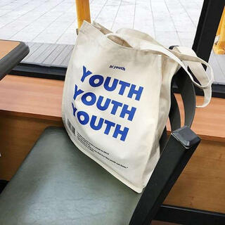 YOUTH トートバッグ キャンバス ショルダー  韓国