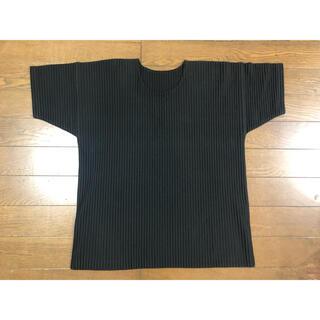 ISSEY MIYAKE - 極美品 オムプリッセ イッセイミヤケ プリーツ 半袖 Tシャツ ブラック 3