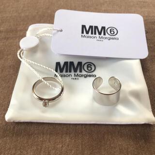 Maison Martin Margiela - M新品 メゾン マルジェラ MM6 2連リング 指輪 シルバー 19AW リング