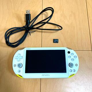 PlayStation Vita - PSVITA 2000 Wi-Fi ライムグリーン 本体+メモリーカード