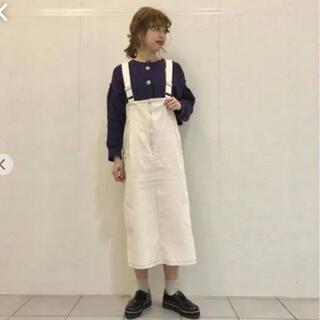 Kastane - カスタネ 配色ステッチ ジャンスカ ジャンパースカート
