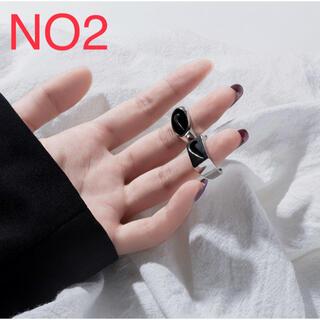 【2点セット】ユニセックス ロゴリング シンプル 韓国ブランド