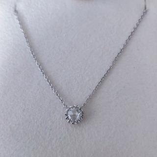 STAR JEWELRY - スタージュエリー ローズカット ダイヤモンドネックレス K18WG 0.22ct