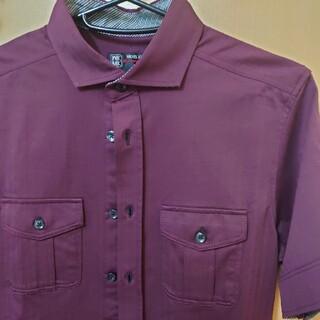 エムケーミッシェルクランオム(MK MICHEL KLEIN homme)のミッシェルクランオム パープル半袖シャツ(シャツ)
