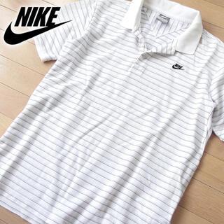 ナイキ(NIKE)の美品 L ナイキ NIKE メンズ 半袖ポロシャツ ホワイト(ポロシャツ)