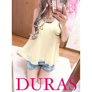 デュラス(DURAS)の3856.DURAS 総プリーツ シフォン ノースリーブカットソー タンクトップ(シャツ/ブラウス(半袖/袖なし))