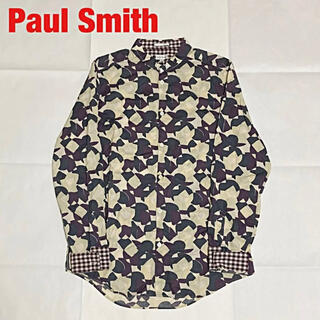 Paul Smith - 【人気】Paul Smith 総柄シャツ 幾何学模様 ギンガムチェック