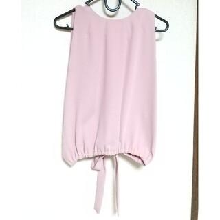 スナイデル(snidel)の♡美品♡スナイデル バックリボン ノースリーブ ピンク snidel(カットソー(半袖/袖なし))