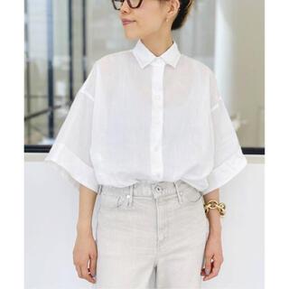 L'Appartement DEUXIEME CLASSE - アパルトモン Ramie Half Sleeve Shirt ホワイト