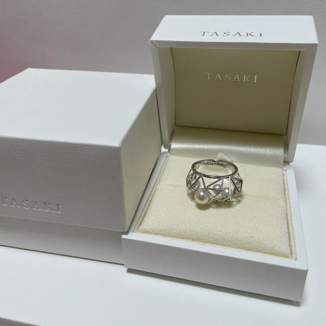 TASAKI(タサキ)のTASAKI タサキ デザインリング K18  14号 美品 レディースのアクセサリー(リング(指輪))の商品写真
