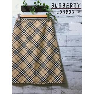 BURBERRY - 【美品】BURBERRY LONDON  ノバチェック  スカート