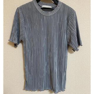 アントマリーズ(Aunt Marie's)のAUNT MARIE'S ミニプリーツ ハーフスリーブカットソー(Tシャツ(半袖/袖なし))