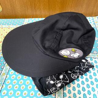 PEANUTS - 【新品未使用】PEANUTS スヌーピー 帽子 BLACK