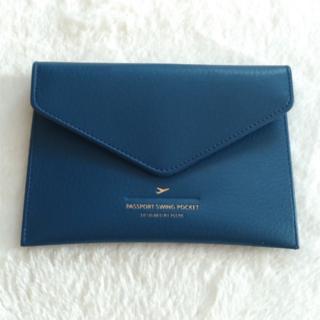 PLEPIC パスポートケース カバー ネイビー トラベルポーチ(旅行用品)