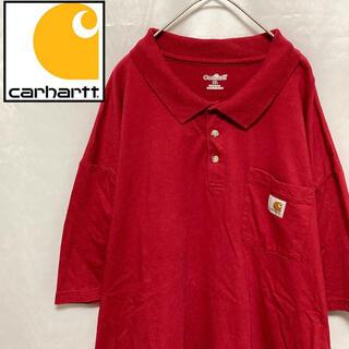carhartt - Carhartt カーハート ポロシャツ 半袖 ポケット 刺繍ロゴ レッド XL