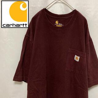 carhartt - Carhartt カーハート 肉厚 ポケTee 半袖 刺繍ロゴ ブラウン XL