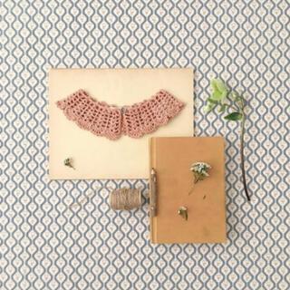 Caramel baby&child  - soor ploom Crochet Collar, clay 付け襟
