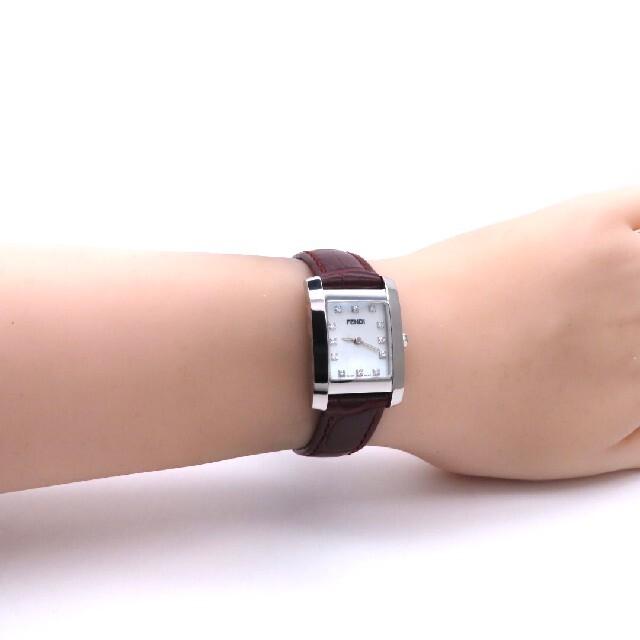 FENDI(フェンディ)の【FENDI】フェンディ 時計 'ダイヤモンド' ホワイトシェル ☆極美品☆ レディースのファッション小物(腕時計)の商品写真
