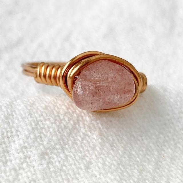 ピンクエピトード 天然石リング オジュール ete agete レディースのアクセサリー(リング(指輪))の商品写真