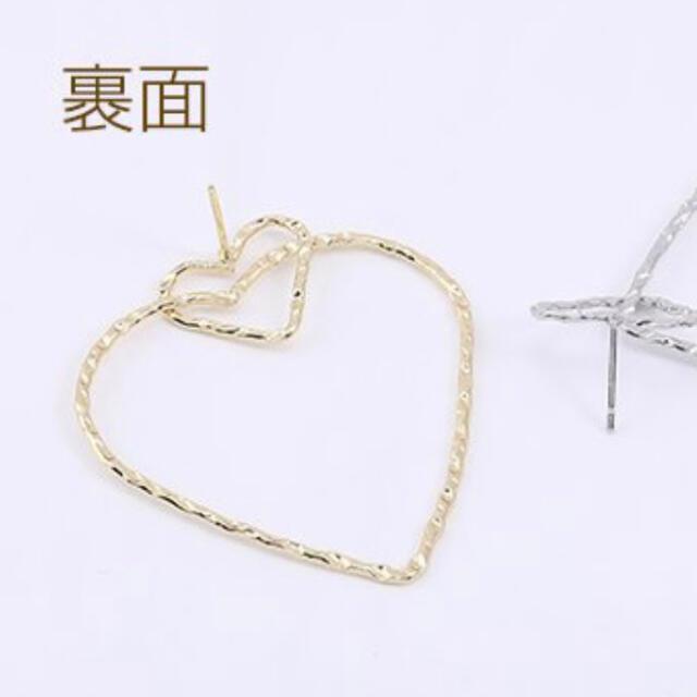 2連 ハート♡ピアス レディースのアクセサリー(ピアス)の商品写真