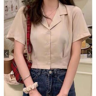 GRL - グレイル ショートシャツ ベージュ ピンク シャツ