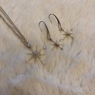 STAR JEWELRY - スタージュエリー ネックレス ピアス sv925 星