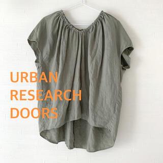 DOORS / URBAN RESEARCH - アーバンリサーチドアーズ 麻リネンシャツ カーキ グリーン ブラウス レディース