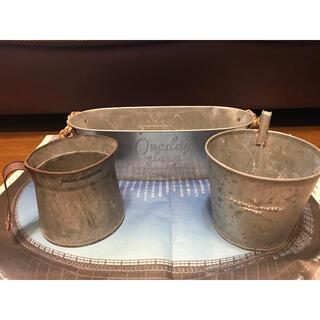 ブリキ鉢カバー(プランター)