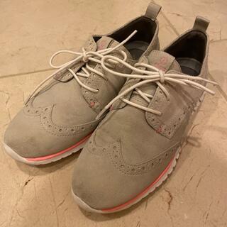 コールハーン(Cole Haan)の【コールハン】zerograndシリーズ ホワイト×ピンク(ローファー/革靴)